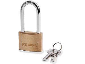 Solid Brass Padlock, Long Shackle